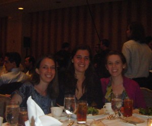 Lucy, Anna, and Camille (left to right) at the Tapia Conference