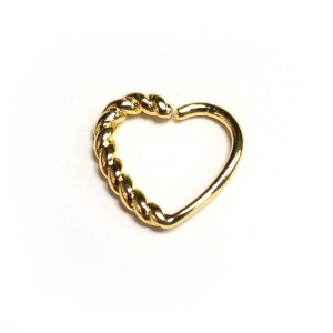 Rope Effect Heart Perfect for Daith / Rook