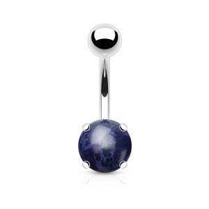 Solid Dome Lapis Lazuli Belly / Navel Curve