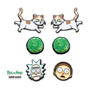 Rick & Morty – Pack of 3 Earring Set