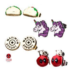 Deadpool – 3 Pairs of Earrings Set