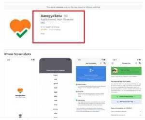Arogya Setu iOS app
