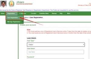 User Registration Tnreginet Portal