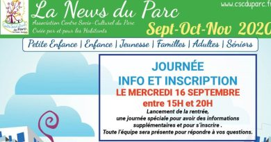 News Du Parc Sept Oct Nov 2020 Entete