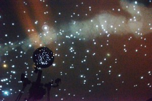 The Milky Way Galaxy is shown during the Planetarium Show on Friday in the Math and Science building.— Photo by Sara Tweet