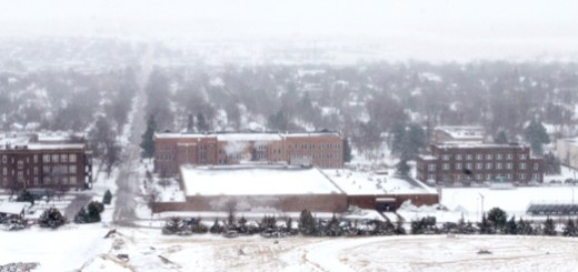 Snow covers the CSC campus Wednesday morning. - Shae Brennan
