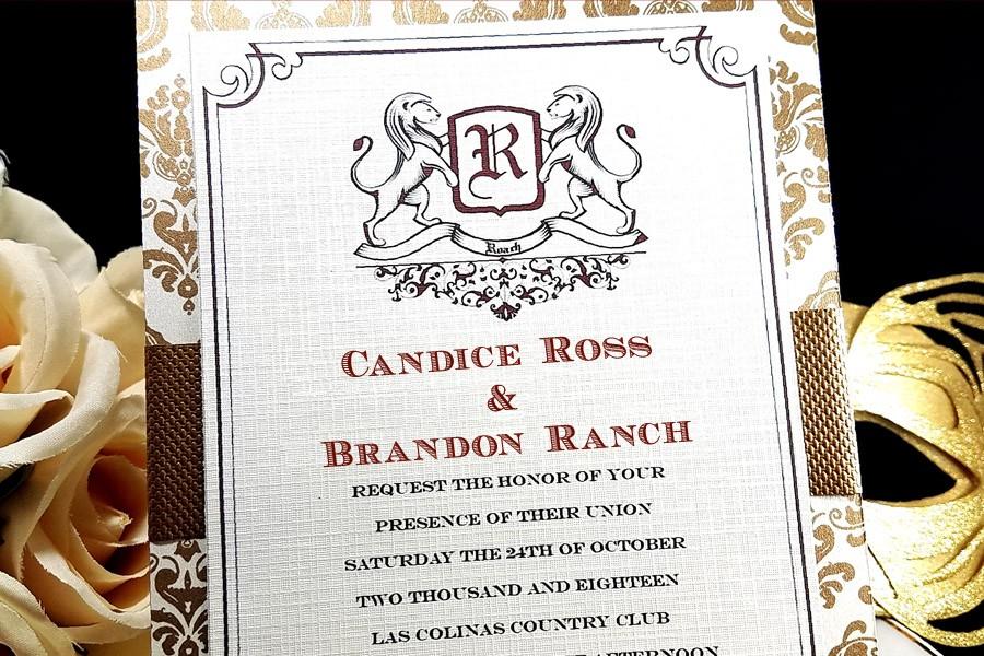 Burgundy Velvet Reign Invitation