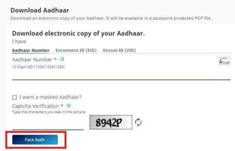 Download Aadhaar card without mobile number