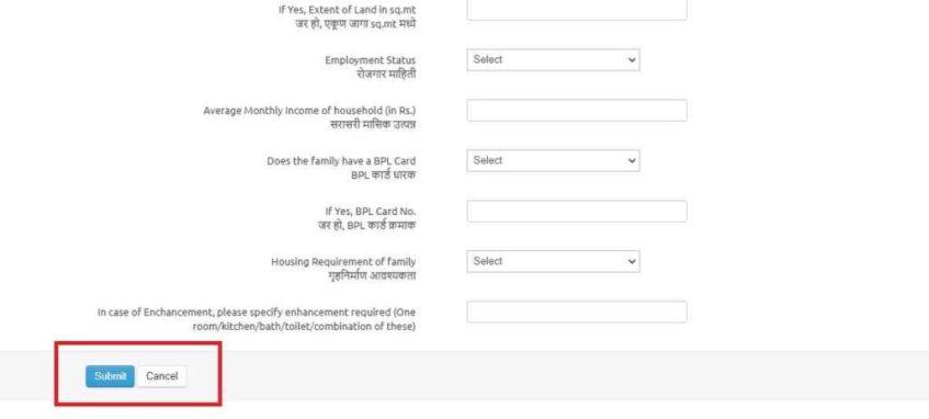 Maharashtra PMAY Registration