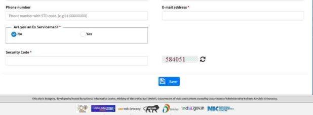 pgportal registration form