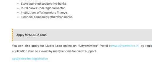 Apply for MUDRA Loan