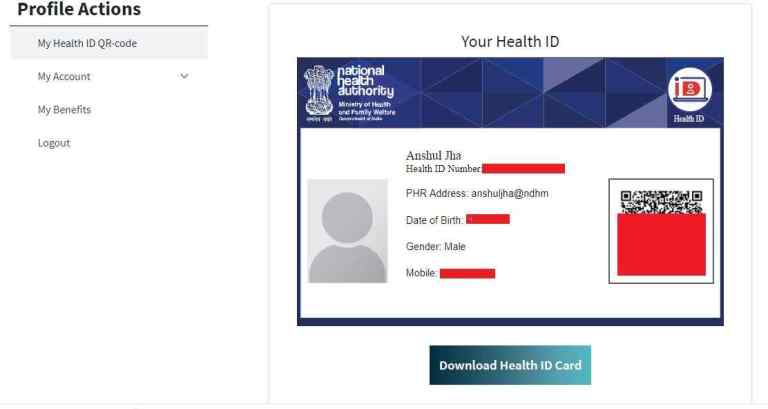 Health ID Card Download