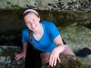 Ella beneath the falls
