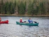 Matt and Liana in their canoe