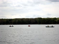 Canoeing on Big Donahue Lake for the afternoon