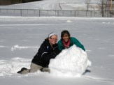 Fun in the snow with Maddie