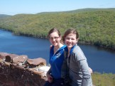 Above Lake of the Clouds with Emma