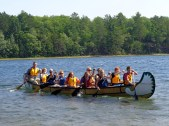 On Black Oak Lake in the Voyageur Canoe