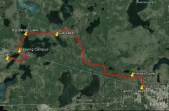 The route mapped using Google Earth