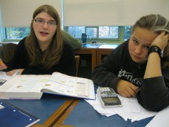 A moment of struggle: Taylor and Sarah discover they need to find theoretical AND experimental probabilities. True, it's a lot!