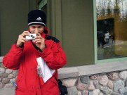 Conner snaps a pic during the photography workshop