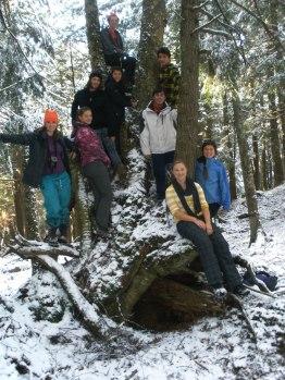 group photo to moss lake
