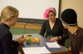 Emily, Analeise and Conner role play a mediation.