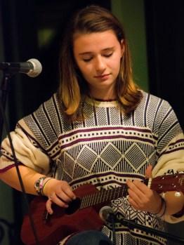 Chloe shares a song on her ukulele