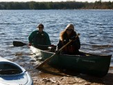 Michelle and SA push off from shore