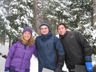 Olivia, Cody and Jesse out on the Lake Elaine trail.