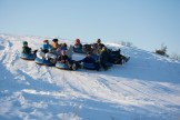 The Field Instruction class rafts up for an epic sled ride.