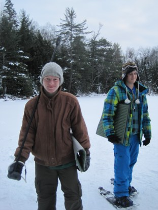 Nick and Mitch out on Lake Elaine.