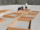 Making frames for raised bed gardens