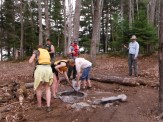 Working on Loon campsite