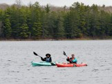 14-05-22 Middle of the lake blue red kayaks