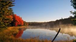 Morning fog on Little Donahue Lake