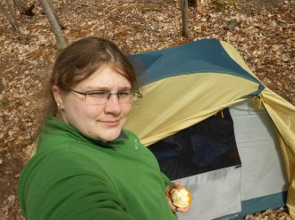 15-04-30 Solo from Gruber Selfie Chelsie tent
