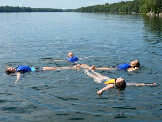 Swimming in Black Oak Lake