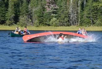 15-09-15 T-Rescue Canoe 18 flipping