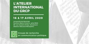 8e Atelier International du GRCP @ Salle B328, pavillon Marie Victorin, UdeM