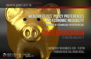 CSDC Speaker Series: David Broockman @ Thomson House Ballroom | Montreal | Quebec | Canada