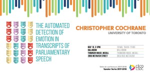 CSDC Speaker Series: Christopher Cochrane @ Ballroom, Thomson House,  McGill University | Montreal | Quebec | Canada