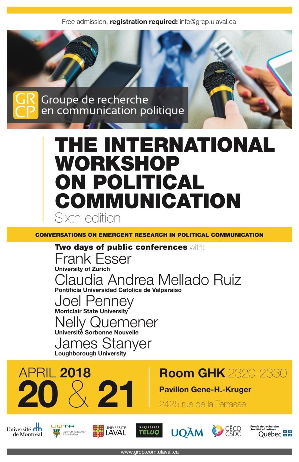 Poster 6th International Workshop on Political Communication