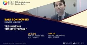 Speaker Series - Bart Bonikowski @ Room 404, Thomson House, McGill