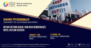 Speaker Series - David Fitzgerald @ Ballroom, Thomson House, McGill University