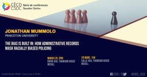 Speaker Series - Jonathan Mummolo @ Room 404, Thomson House, McGill University