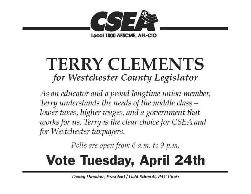 Clements T GOTV | CSEA 9200  3,000 union members - We Make