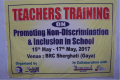 Teacher Training on Promoting Non-Discrimination and Social Inclusion in School