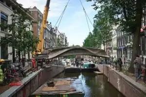 World's first 3D-printed steel bridge