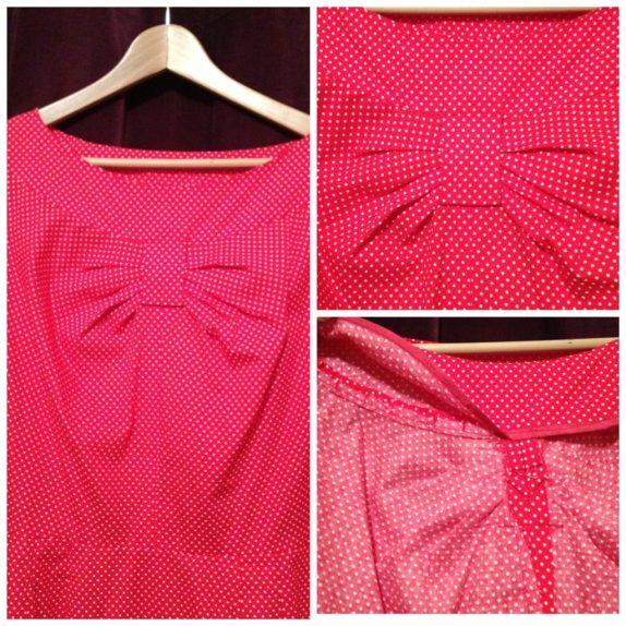 Red dress - no interfacing